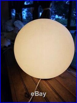 14 Vtg Mid Century Modern Plastic Lollipop Ball Orb Table Lamp RARE / Works