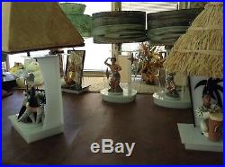 1950's MOSS CONGA DELEE ACRYLIC MODERN RETRO LUCITE LAMP Excellent RARE BONGO