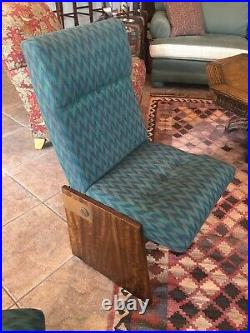 (4) MCM Lane Brutalist Dining Chairs, Rare Original Condition withCopper