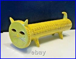 ALDO LONDI YELLOW CAT RARE LIMITED EDITION 180 BITOSSI Made in Italy