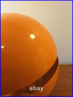 ANDREA MODICA Rare Collectable Mid Century Designer Orange Globe Lamp