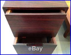 A Rare Rosewood Cabinet On Pedestal Base George Nakashima