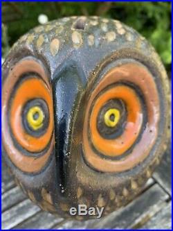 Aldo Londi Bitossi Owl Moneybox Vintage Italian 1960's Mid Century Stylised Rare