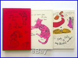 Andy Warhol Rare 1987 1st Ed 25 Cats Name Sam Collector's Slipcase 2 Book Set