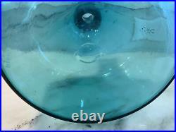 Blenko Husted Vtg Mid Century Modern Art Glass Decanter 5816L Vase Rare