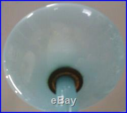 Blue opaline Chandelier modern Murano Glass rare mid-century Italian MCM vintage