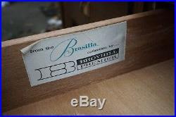Broyhill Brasilia Mid Century Modern Expanding Drop Leaf Rolling Bar Server Rare