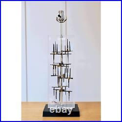 Brutalist Lucite Table Lamp by Laurel RARE 1960s Modernist