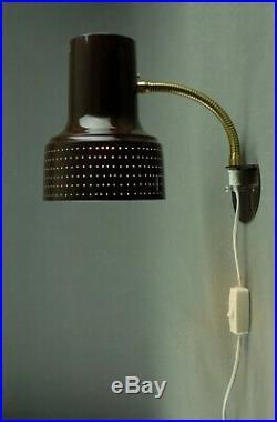 Carl THORE Wall Lamp Danish Modern Mid Century Eames Panton RARE 50s 60s 70s Era