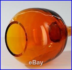 Crazy Rare Large Blenko Wayne Husted Tangerine Trumpet Vase 1957 / 1958