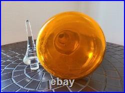 DREAMY RARE Viking Glass EPIC 18.25 ORANGE Decanter Midcentury Modern