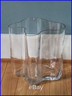 Early Alvar Aalto 30131 vase HUGE wood mould blown RARE savoy Iittala Finland