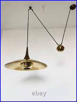 Early Rare Florian Schulz Onos Counter Balance Pendant Mid Century Modern 1960s