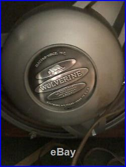 Electro Voice Wolverine 12 speaker WORKING MID CENTURY MODERN CORNER BOX RARE