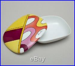 Emilio Pucci for Rosenthal Studio-Line Porcelain Lidded Dish Signed RARE