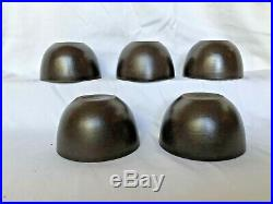 Ex. Rare 5 Piece Set Of Heath Ceramics Multi-colored Tea Bowls /cups 1948-1952
