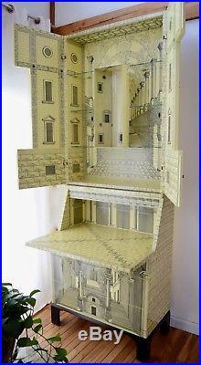 Fornasetti Trumeau Architettura Cabinet Secretary Furniture Rare Ivory