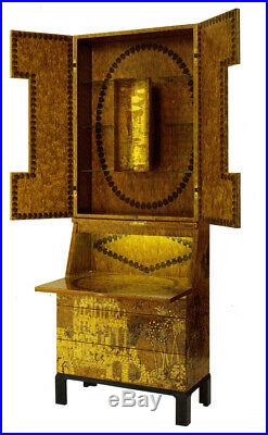 Fornasetti Trumeau Gran Coromandel Cabinet Secretary Furniture Rare Piero ITALY