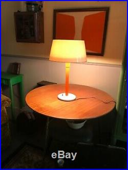GERALD THURSTON LIGHTOLIER MUSHROOM LAMP VINTAGE MID CENTURY MODERN Orange Rare