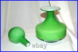 GULVVASE with Stopper by Otto Brauer for HOLMEGAARD 1965 RARE SHAPE and Color