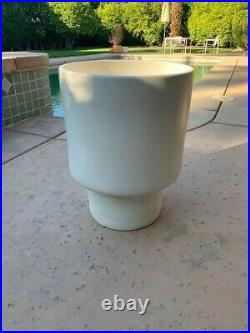 Gainey P-16 White MCM Footed Planter 21.25 High, Rare