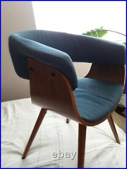 Gorgeous Rare Find Mid Century Modern Style Wood & Fabric Side/Accent Chair