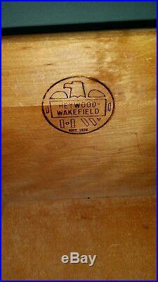 HEYWOOD WAKEFIELD DRESSER WITH MIRROR (9 Drawer) CHAMPAGNE- RARE