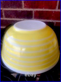 HTF Vintage Pyrex Rainbow Stripe Yellow 403 402 401 Mixing Bowl Set Rare