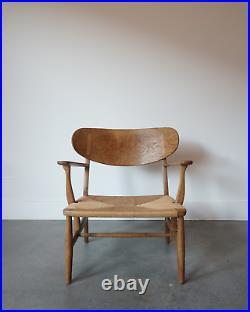 Hans Wegner CH-22 Oak Lounge Chair RARE Danish Mid Century Modern Denmark 1950s