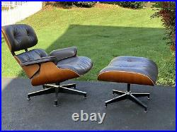 Herman Miller Eames Lounge Chair And Ottoman Cherry & RARE Plum Leather