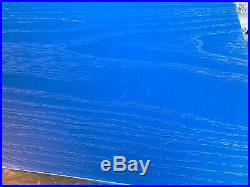 Herman Miller Select Charles Eames LTR Wire Base Side Table, Rare Cobalt Blue