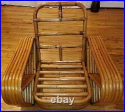 Iconic Bamboo Lounge Chair Pretzel Rattan Frankl Rare