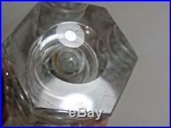 JOSEF SVARC RARE 1960s Controlled Air Rings Glass Vase Podebrady Czech Bohemian