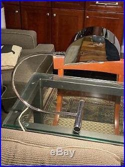 Koch & Lowy Chrome MID Century Modern Table Lamp / Desk Lamp Pair. Rare