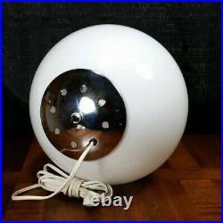 Laurel Lamp Co Reggiani Design Italy Mid Century Modern Chrome Globe Unique RARE