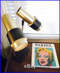 Lightolier lamp Atomic Space Age 1960s VTG mid century Danish Eames era rare