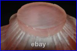 MCM Dorothy Thorpe RARE Pink Frosted Resin Sunflower Bowl Serving Set