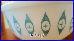 MCM Rare Vintage Pyrex Atomic Eyes Large Mixing Bowl/Chip Bowl #403