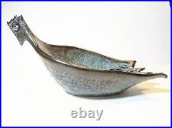 MCM early David Gil Coop Designs Bennington rare Abstract Stylized Bird Bowl
