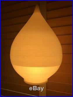 MID CENTURY RARE HEIFETZ ROTAFLEX SPUN CONE CEILING LAMP PENDANT WHITE Raindrop