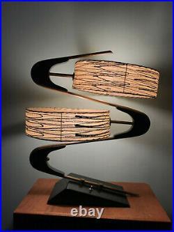 Majestic Z Lamp 50s Retro Mid Century Atomic Modern Futuristic Rare Luxcraft