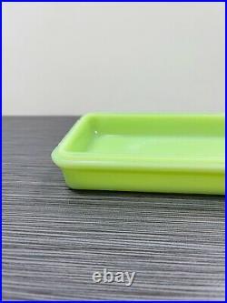 McKee Glass Co Jadite / Jadeite / Jade-ite Cheese Dish (Rare Scarce)