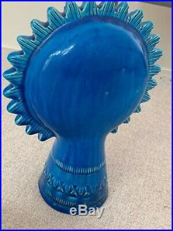 Mid-Century BITOSSI Rare Sunflower BLUE Italian Art Pottery
