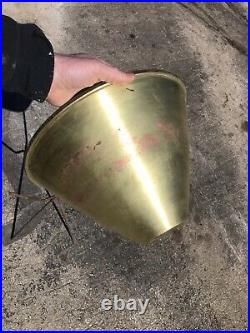 Mid Century Bullet Planter Brass And Iron Planter Inc Chicago Vtg Original Rare