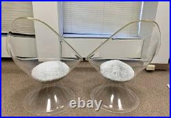 Mid-Century Lucite Lily Chairs By Estelle & Erwin Laverne Ultra Rare