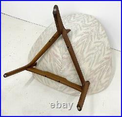 Mid Century Modern Adrian Pearsall Coconut Chair Three Leg Walnut Base Rare