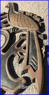 Mid Century Modern Brutalist MCM Howard Pierce Door Knob Plate Escutcheon RARE