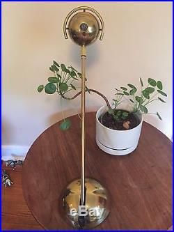 Mid Century Modern Koch & Lowy OMI Brass Adjustable Desk Table Lamp / Very Rare