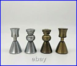 Mid Century Modernist Chess Set. Abstract Design Brass & Steel Chessm. Rare
