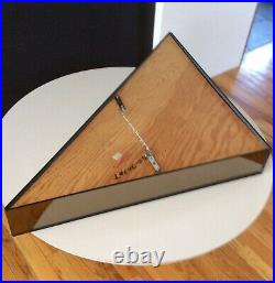 Mid Century Op Art Hal Bienenfeld Inc N. Y. Tinted Glass Triangulated Mirror Rare